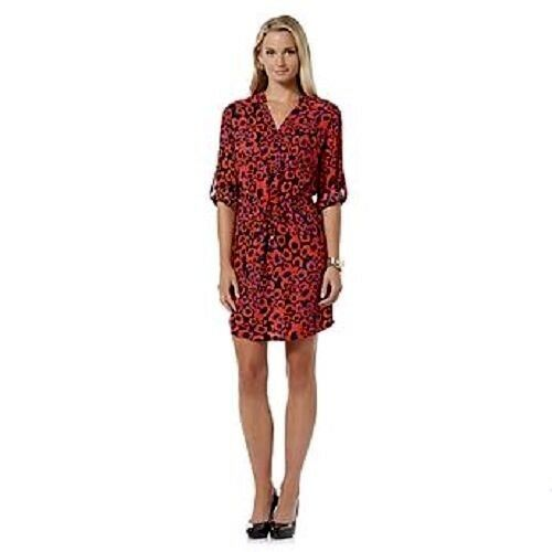 New Metaphor Long Sleeve Abstract Print Shirtdress Variety colors&Sizes
