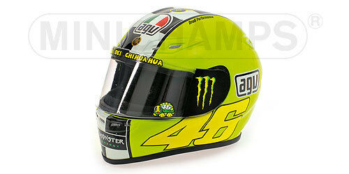 1 2 AGV MINICHAMPS HELMET CASCO CASQUE VALENTINO ROSSI 2009 WINTER TEST NEW