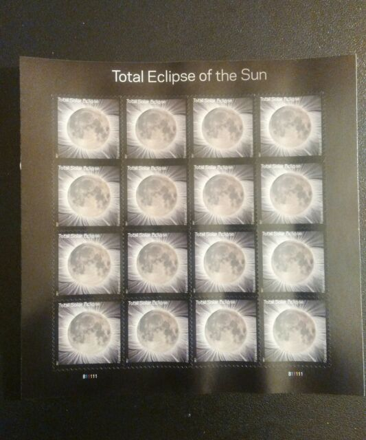 Total Eclipse of the Sun Sheet of 16 Forever Stamps 51 FV-$7.84