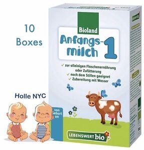 Holle Lebenswert Stage 1 Organic Formula, 02/2020 FREE SHIPPING 10 BOXES
