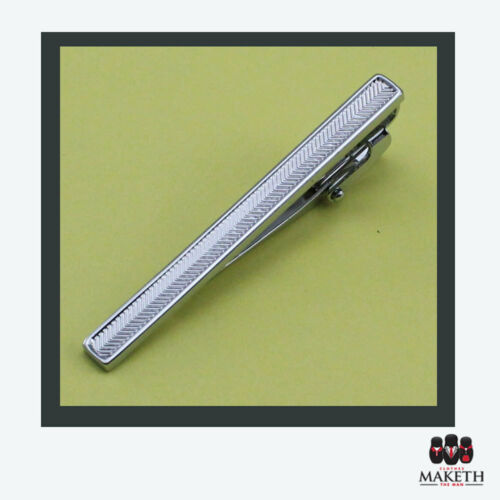 New Tie Clip Stainless Steel Fashion Mens Clasp Bar Wedding Groomsmen Suit 57mm