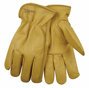 Kinco-Grain-Cowhide-Unlined-Drivers-Multi-Purpose-Work-Gloves-Men-039-s-Small