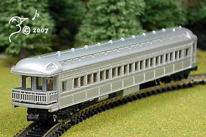 Overton-Old-Timey-Silver-Coach-Train-Car-N-Scale-1-160-by-Model-Power