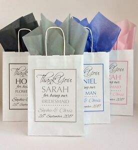Image Is Loading Personalised Wedding Favour Paper Gift Bag Thank You