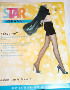 SPANX Stand-Out Patterned Shaping Sheers Dots - Black - NEW OPEN BOX-CHOOSE SIZE