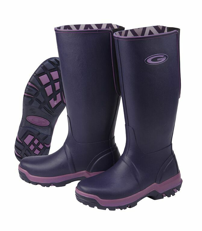 Maggots rainline Wellington botas nuevo para esta temporada Trax único tamaño 5 Berenjena