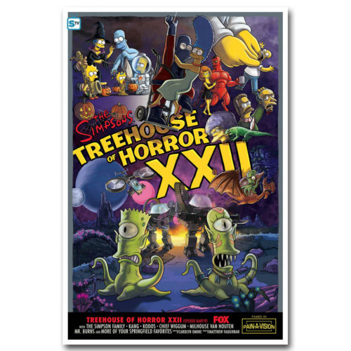 The Simpsons Treehouse of Horror Cartoon Art Silk Canvas Poster 12x18 32x48 inch