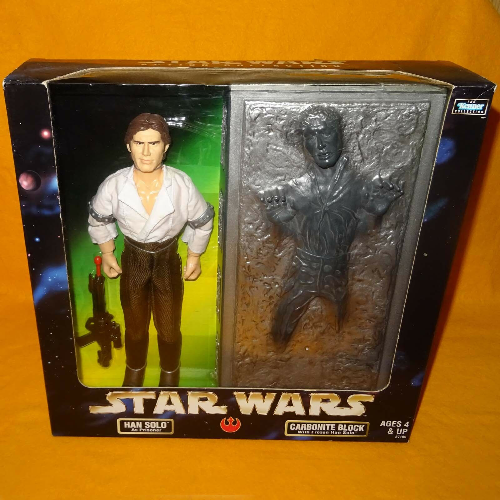 1998 HASBRO STAR WARS THE KENNER COLLECTION HAN SOLO & CARBONITE FIGURE BOXED
