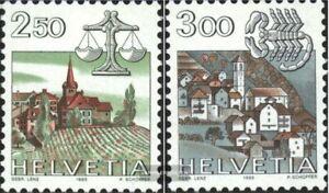 Schweiz-1288-1289-kompl-Ausg-FDC-1985-Tierkreiszeichen