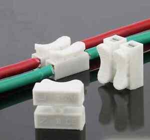 20pcs Self Locking mini 3Pin Cable Connectors Quick Splice Lock Wire TerminaRSDE