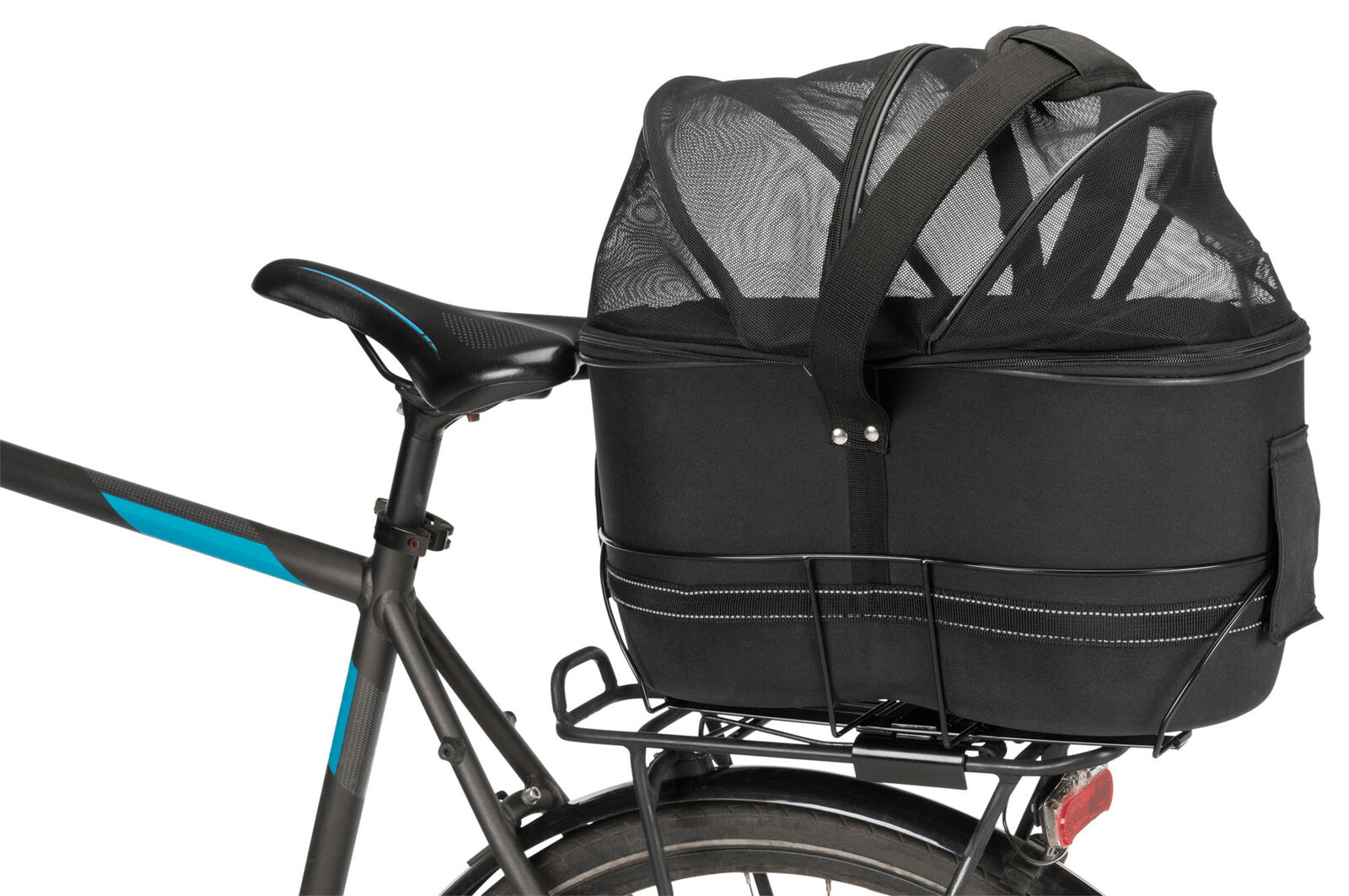 Cestino Bicicletta per Stretti Portapac , 29×42×48 cm, Nero