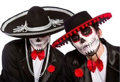 Day Of The Dead Mariachi Band Hat Fancy Dress Mexican Spanish Halloween Adult