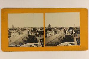 Francia-Angers-Vista-de-La-Ayuntamiento-c1900-Foto-Estereo-Vintage-Analogica