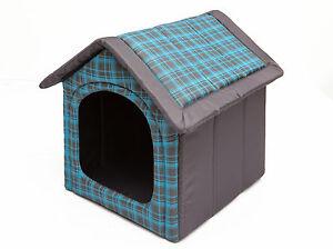 Dog Cave Hobbydog Dog House Doghouse Bleu Avec Grille R3: 52 X 46 Cm