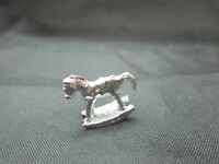 Dollhouse Miniature Unfinished Metal 1/24th Scale Toy Rocking Horse