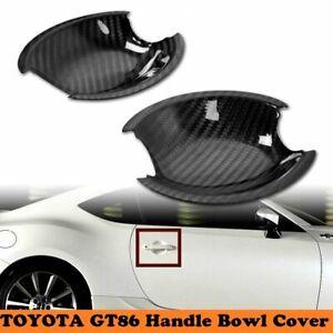Carbon Fit For Toyota GT86 Scion FR-S Subra BRZ Inner Door Handle Cover Trim