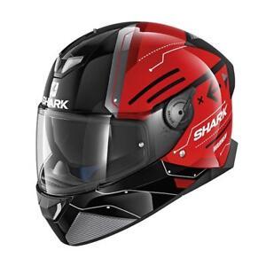 SHARK-SKWAL-2-LED-WARHEN-KRK-RED-MOTORCYCLE-HELMET-LARGE