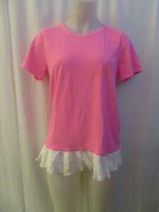 Too shirt Pink Clu Size Womens T Layered S Hot gZS1xxwqnF