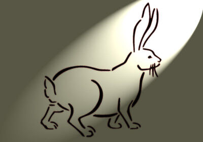 Shabby Chic Stencil Artistic Hare Face Rabbit Rustic A4 297x210mm wall Furniture