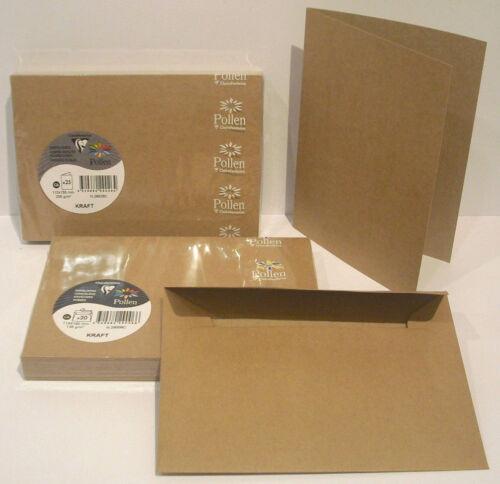 + Umschläge C6 29026C 29006C zur Wahl Pollen Kraftpapier Doppelkarten C6