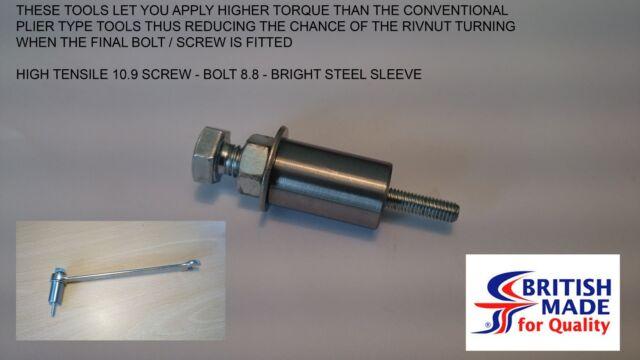 M6 Insert Setting 12.9 Rivnut Nutsert Tool Spare Spindle  High Tensile