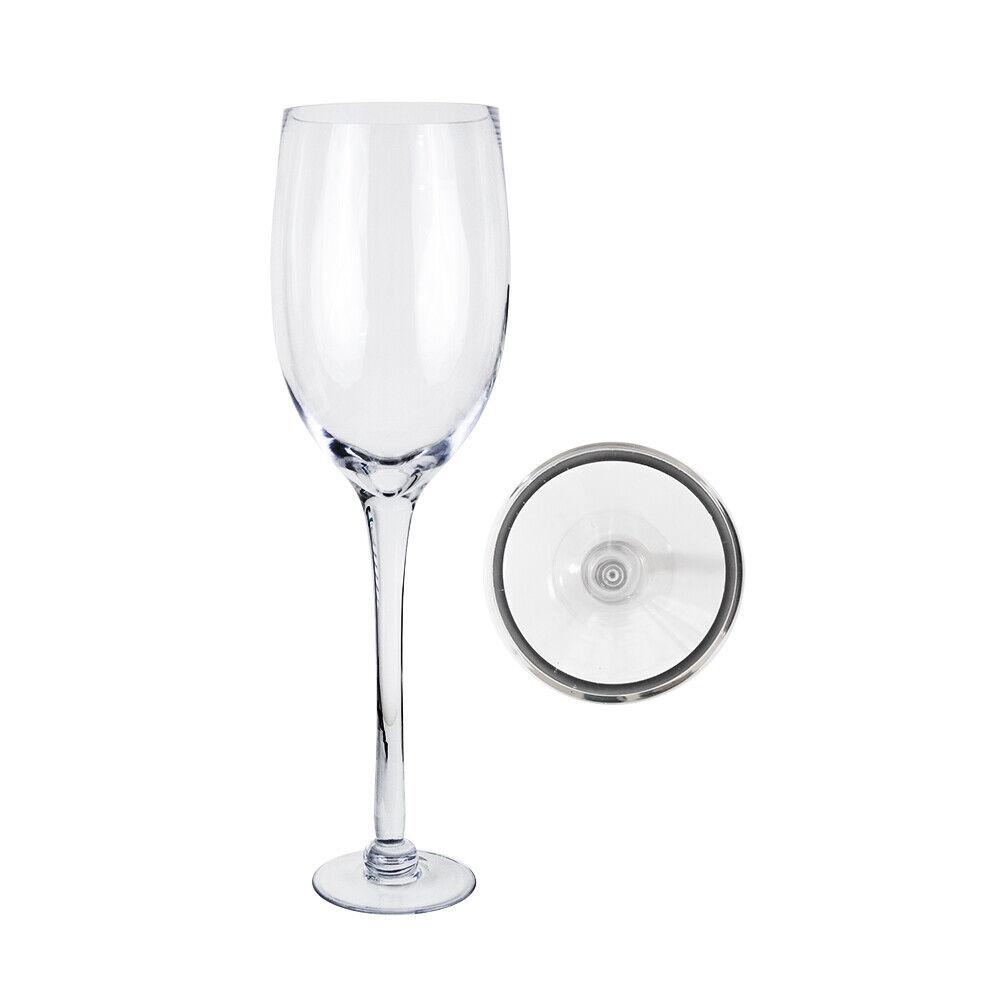 Mega Vases - 6  x 24  Champagne Glass Vase - 1 Piece, Clear