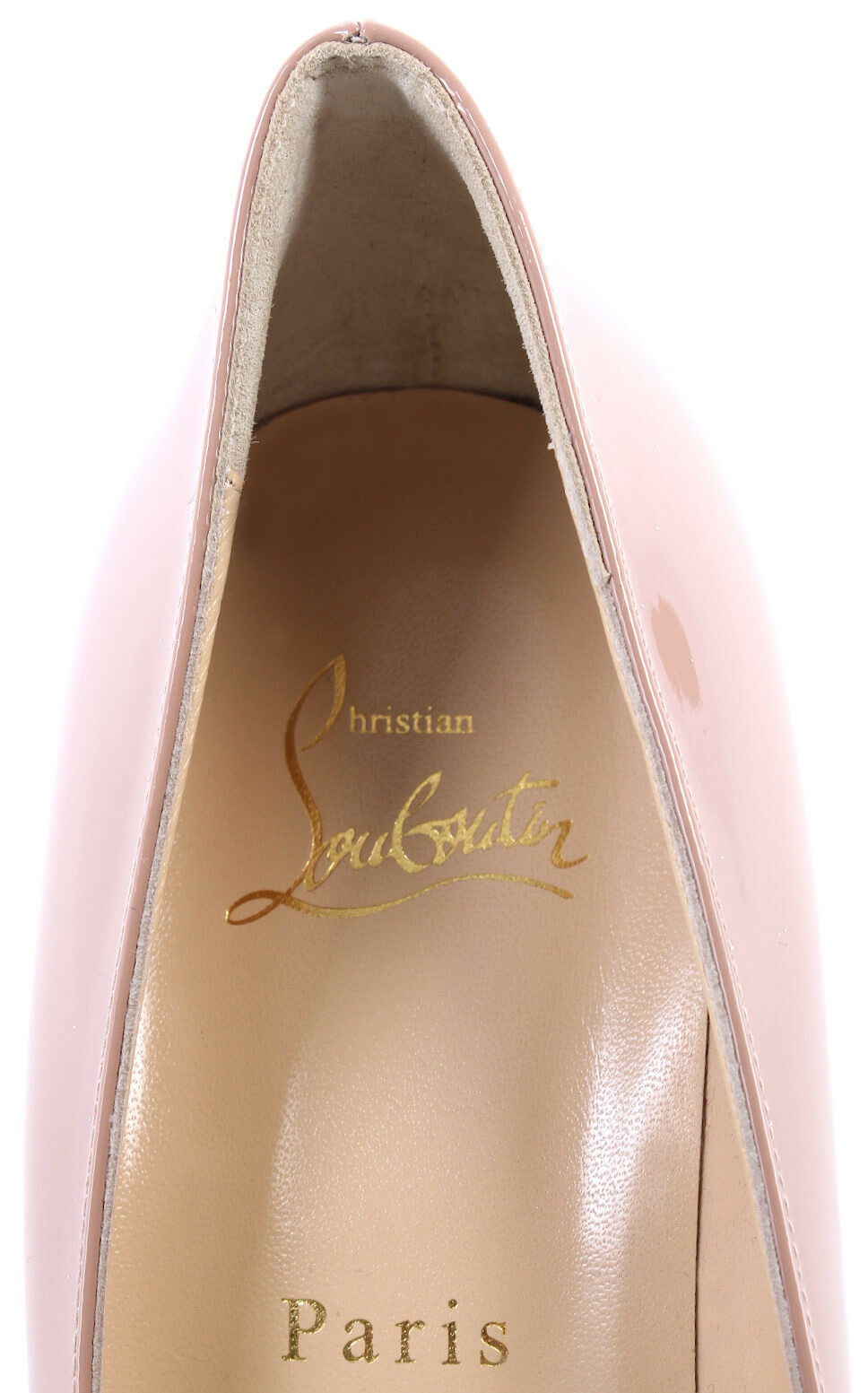 Damen Schuhe CHRISTIAN LOUBOUTIN Paris Decollete Decollete Decollete Simple Pump 85 Patent Calf Nude 423037