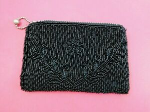 Vintage-Glass-Beaded-Clutch-Coin-Purse