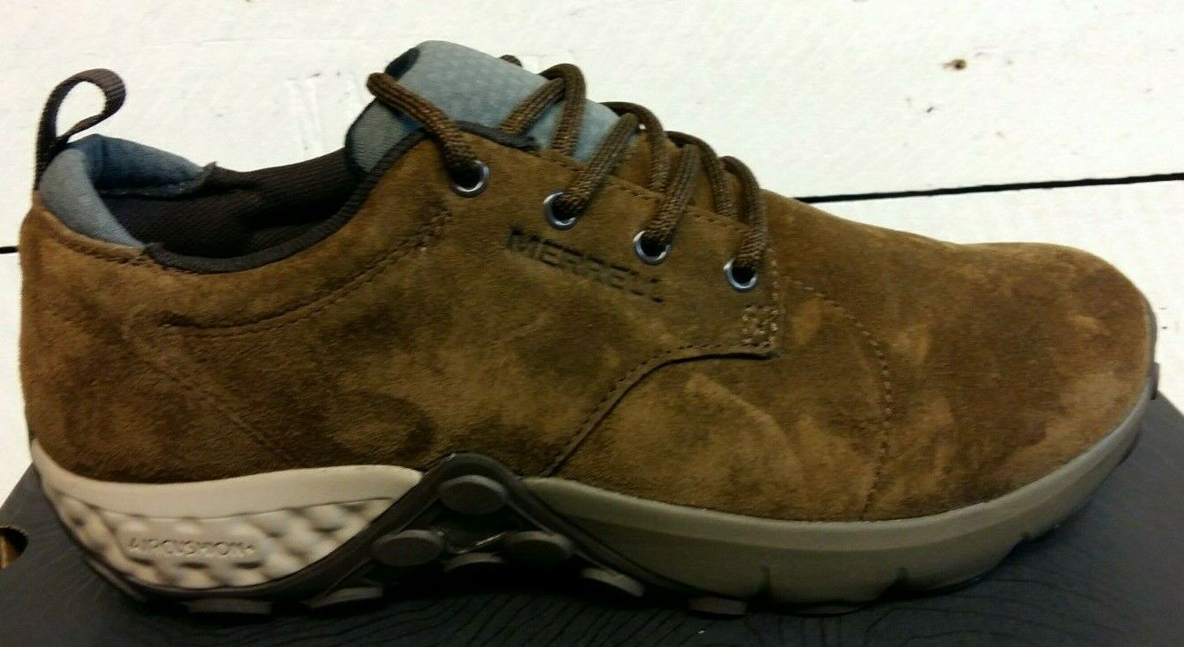 Men's Merrell Jungle Dark Earth Brown Lace Up Suede Leather Casual shoes