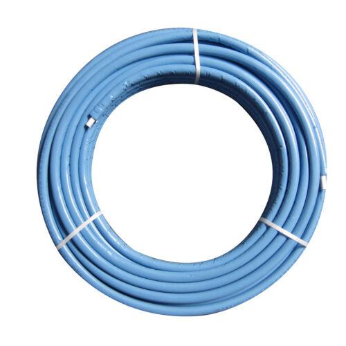 50m Rolle Mehrschichten-Verbundrohr 16x2mm PE-X//Al//PE-X blaue Isolierung