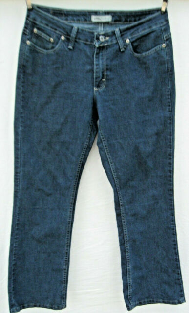 Riders By Lee Women bootcut Jeans petites Size 10P blue dark wash faded stretch