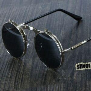 Round-Sunglasses-Retro-Vintage-Glasses-John-Lennon-style-Steampunk-Circle-Lens