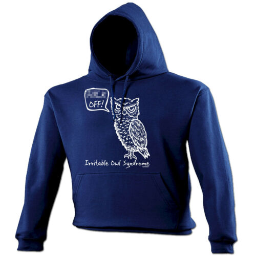 IRRITABLE OWL SYNDROME HOODIE hoody swear rude adult funny birthday gift 123t