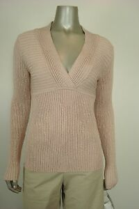 INC-International-Concepts-Petite-RIBBED-V-NECK-SWEATER-SILVER-PXL