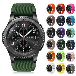 Für Samsung Gear S3 Frontier/Classic Silikon Sportband Uhrenarmband Armband 22mm