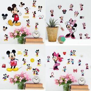Cute-Catoon-Mickey-Minnie-Mouse-Mini-Wall-Decals-Sticker-Home-Kids-Room-Decor