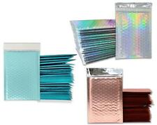 4x8 Holographic Sunset Peach Bubble Mailers Metallic Padded Shipping Mailing