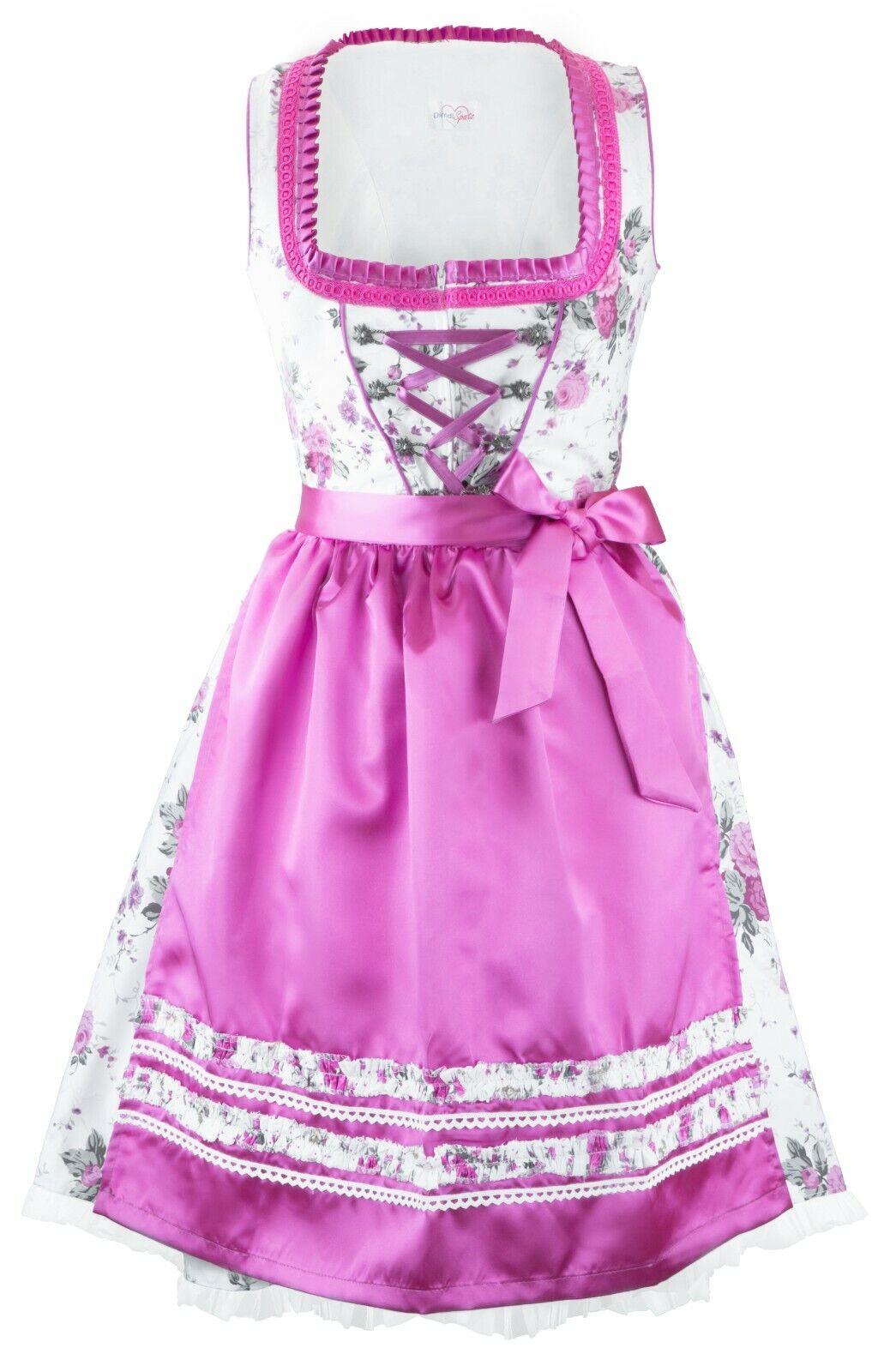 e1928f232b8182 Midi Midi Midi Dirndl 3-teilig Set Mididirndl Trachtenkleid Oktoberfest  Kleid Gr 34 - 54 b7c0b0