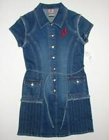 Makaveli Button Front Blue Denim Dress Youth Girls Large L 12-14