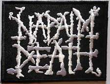 NAPALM DEATH embroidred patch Terrorizer Nasum LockUp Brutal Truth Rotten Sound