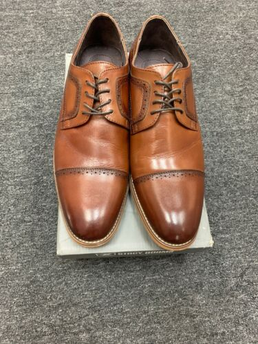 Stacy Adams Mens Dickinson Cognac Preowned 11Wide