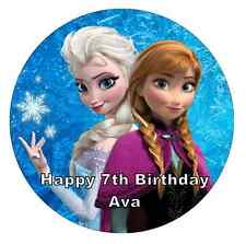 Disney Frozen Anna And Elsa Scene Wafer Edible Cake Decoration Set