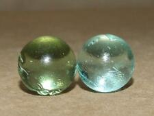 2 Vintage Glass Marbles Made From Old Coke Coca Cola Bottles 5/8 inches Wide