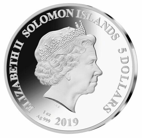 2019 Solomon Legends Music Mick Jagger 1 oz Silver Sid Maurer $5 Proof SKU54734