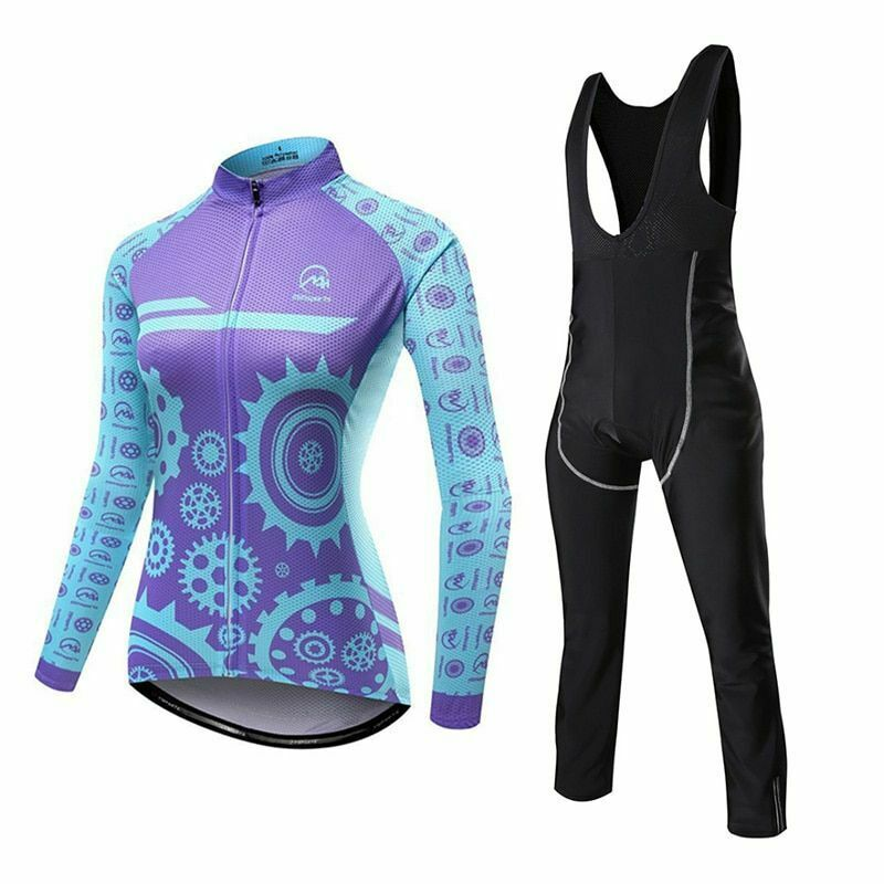 Long Sleeve damen Breathable Cycling Jersey Set Bike Clothing Bicycle Sport Suit