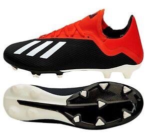 girar Línea de metal Misterioso  Adidas Hombres X 18.3 FG Botines De Fútbol Negro Rojo Fútbol Zapatos Bota  Spike BB9366 | eBay