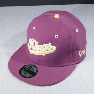 attractive price sold worldwide cheaper NBA Sacramento KINGS New Era 59FIFTY fitted hat cap 7 1/8 Hardwood ...
