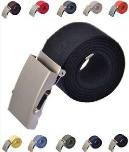Stoffguertel-100-150-cm-Canvas-Belt-Jeans-Guertel-schiebe-schnalle-4-cm-Breit-Smak