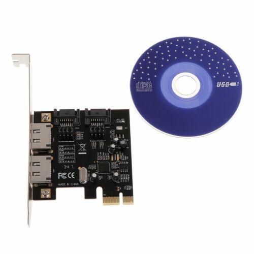 PCI-E PCI-Express to 6 Gbps 2 eSATA SATA 3.0 Adapter Converter Card