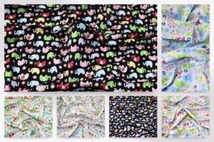 CP0241-M Elephants Print Cotton Poplin Fabric
